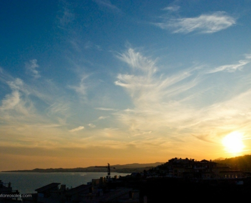 Sunset in Torrequebrada, Benalmadena photo