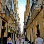 busy street cadiz photo