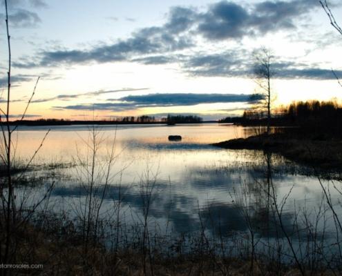 Kontiolahti lake sunset photo