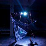 arte & vida dark lights dancing with little girl photo