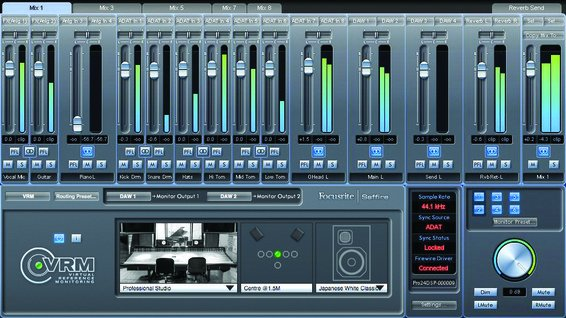 Virtual reference monitoring mixer