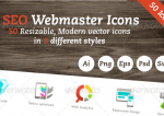 Seo webmaster vector Icon Set