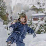 cute boy Finnish winterland