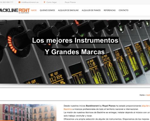 backlinerent.es alquiler de instrumentos y backline