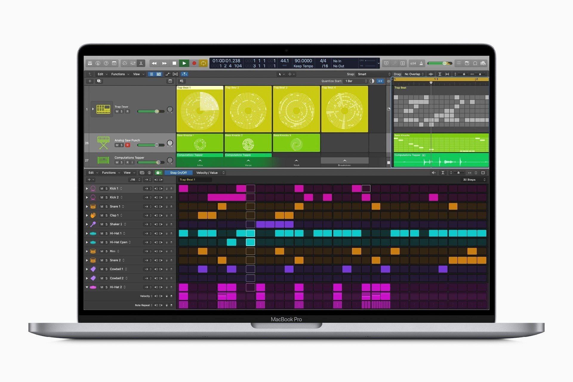 Logic pro X 10.5 Step Sequencer